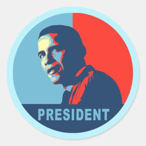 Obama gana las camisetas del premio de la paz etiqueta redonda