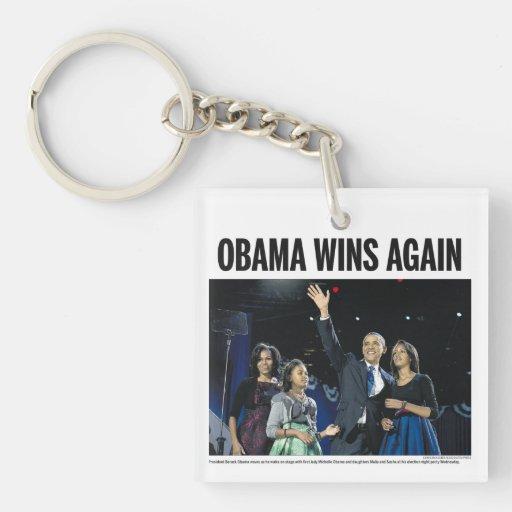 Obama gana otra vez: Llavero 2012 del periódico de