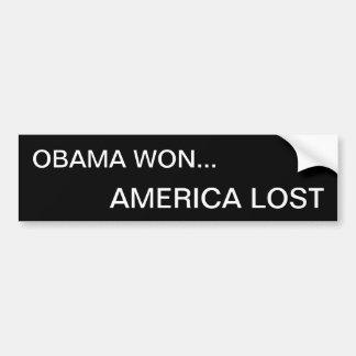 Obama ganó… América perdida Pegatina De Parachoque