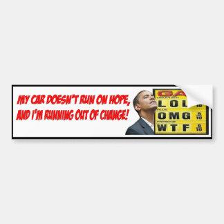 Obama Gas Bumper Sticker