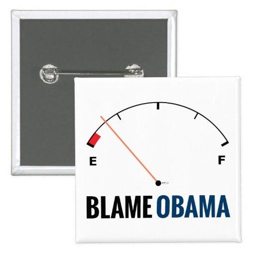 Obama Gas Prices 2 Inch Square Button