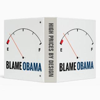 Obama Gas Prices 3 Ring Binder