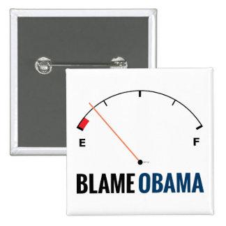 Obama Gas Prices Pinback Button