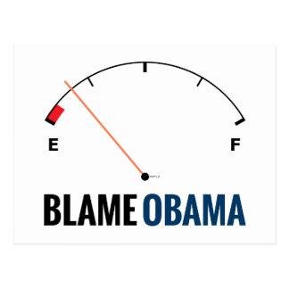 Obama Gas Prices Postcard
