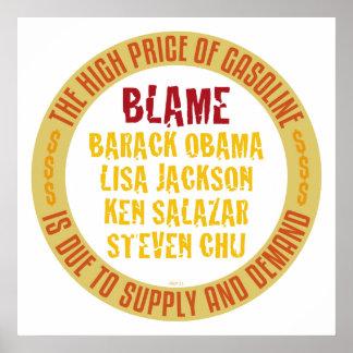 Obama Gasoline Print