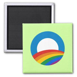 Obama Gay Pride 2 Inch Square Magnet