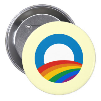Obama Gay Pride 3 Inch Round Button