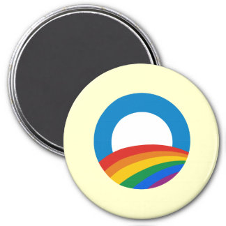 Obama Gay Pride 3 Inch Round Magnet