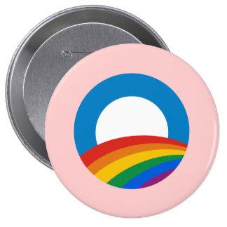 Obama Gay Pride 4 Inch Round Button