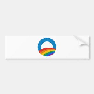 Obama Gay Pride Car Bumper Sticker