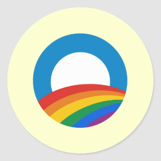 Obama Gay Pride Classic Round Sticker