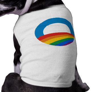 Obama Gay Pride Dog T-shirt