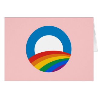 Obama Gay Pride Greeting Card