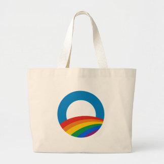 Obama Gay Pride Jumbo Tote Bag