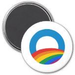 Obama Gay Pride Refrigerator Magnet