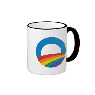 Obama Gay Pride Ringer Coffee Mug