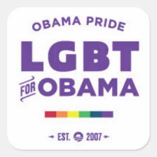 Obama Gay Pride Square Stickers