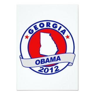 Obama - Georgia 5x7 Paper Invitation Card
