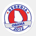 Obama - Georgia Pegatinas Redondas