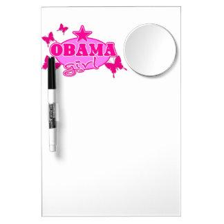 Obama Girl Dry Erase Whiteboard