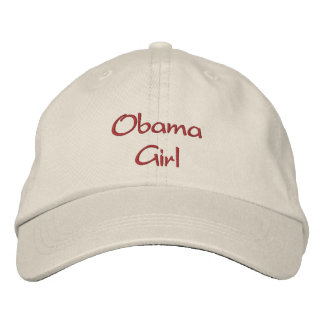Obama Girl Embroidered Cap / Hat