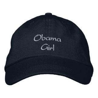 Obama Girl Embroidered Navy Cap / Hat Baseball Cap