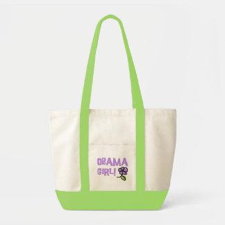 Obama Girl Flower Power Tote Canvas Bag