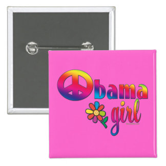 Obama Girl Pinback Button