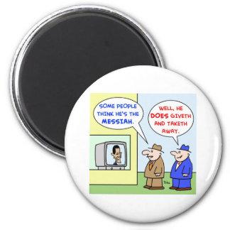 Obama giveth taketh away economy refrigerator magnets