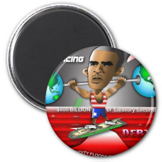 Obama Global Rebalancing Refrigerator Magnets