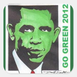 OBAMA GO GREEN 2012 by David Smith Sticker 007