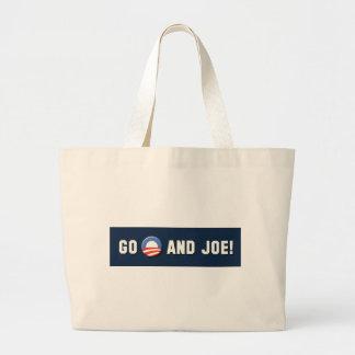 """Obama - Go """"O"""" and Joe! Large Tote Bag"""