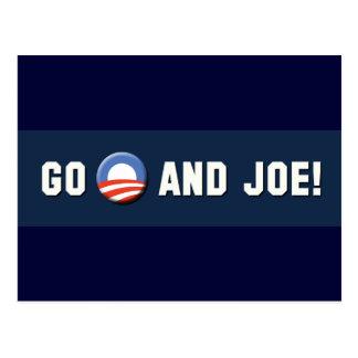 """Obama - Go """"O"""" and Joe! Postcard"""