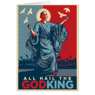 Obama God King Greeting Card