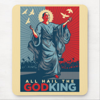 Obama God King Mousepad