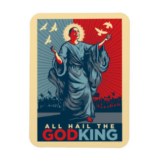 Obama Godking Premium Magnets