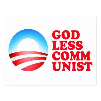 Obama Godless Communist Postcard