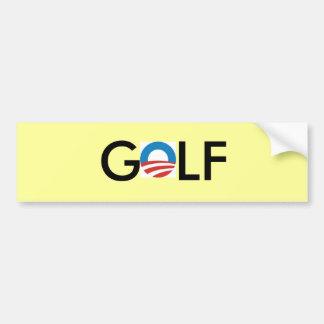 obama golf bumper sticker car bumper sticker