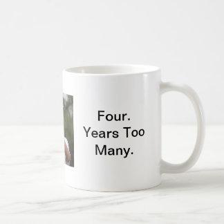 "Obama Golf ""Four Years Too Many"" Classic White Coffee Mug"