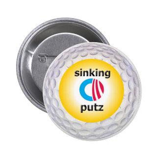 Obama Golf logo Pinback Button