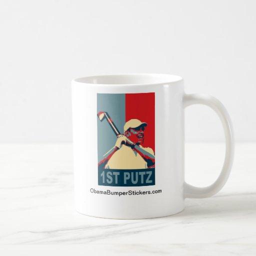 """Obama Golf Mug """"1st Putz"""""""