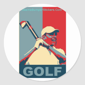 Obama Golf Sticker