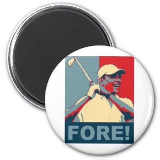 ¡Obama Golfing DELANTE! Imán Redondo 5 Cm