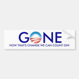 Obama, GONE! Car Bumper Sticker