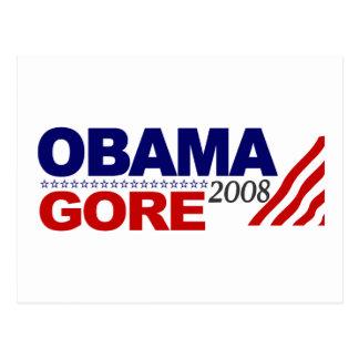 Obama Gore 2008 Postcard