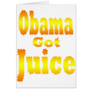 Obama Got Juice Orange Yellow Card