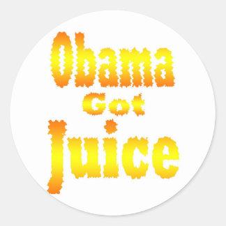 Obama Got Juice Orange Yellow Stickers