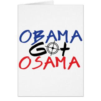 Obama Got Osama Card