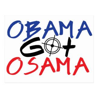 Obama Got Osama Postcard