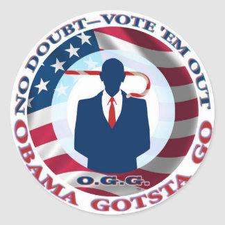 ¡Obama Gotsta va! Pegatina Redonda